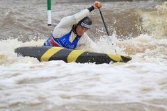 Anze Bercic - παγκόσμιο πρωτάθλημα νερού slalom Στοκ Εικόνες