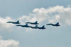 Anzeige Airfighters SU-27 von Gelegenheiten Lizenzfreies Stockfoto