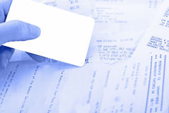 Anzeige auf einer unangenehmen Aufgabe, zum von Schulden unter c zu zahlen Lizenzfreie Stockbilder