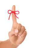 Anzeige auf Finger Stockbilder