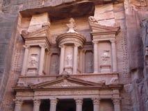 Anzeige Deir, der Kloster-Tempel von PETRA, Jordanien lizenzfreies stockbild
