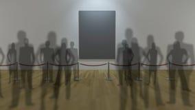 Anzeige der Galerie 3d Lizenzfreie Stockfotos