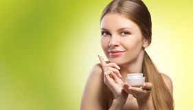 Anzeige der natürlichen Kosmetik Lizenzfreie Stockfotos