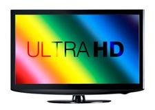 Anzeige des Fernsehen 4K Lizenzfreie Stockbilder
