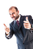 Anzeige des Geschäftsmannes Lizenzfreie Stockfotos