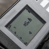Anzeige eines Dosimeterradiometers Stockfotografie