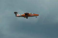 Anzeige SAABS 105 OE während Radom-Flugschau 2013 Lizenzfreie Stockfotografie