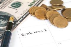 Anzeige u. x22; Bank loan& x22; lizenzfreie stockfotografie