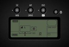 Anzeige und Knopfsteuerung für Kameravektor stock abbildung