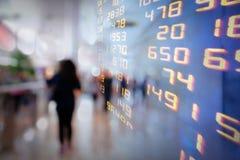 Anzeige von Börse-Austausch oder von Handelsdiagramminformationshintergrund stockfotografie