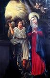Anzeige von Jungfrau Maria stockbild