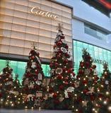 Anzeige von Weihnachtsbäumen stockbild
