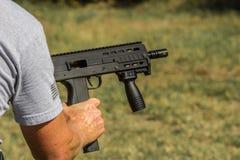 Anzeigen des Maschinengewehrs Stockfotos
