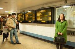 Anzeigeninformationen und -U-Bahn-Plan Lizenzfreie Stockbilder