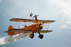 Anzeigenteam Breitling Wing Walkers Stockbilder