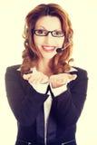 Anzeigentextraum des Call-Centers behilflicher Lizenzfreie Stockfotos