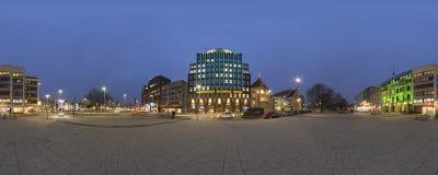 Anzeiger-Hochhaus en Hannover panorama de 360 grados Imagen de archivo libre de regalías