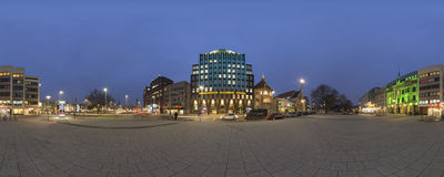 Anzeiger-Hochhaus in Hannover. 360 degree panorama. Royalty Free Stock Image
