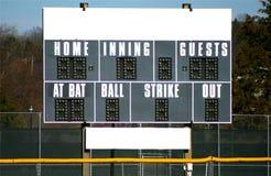 Anzeigetafel für Baseball Lizenzfreie Stockfotos
