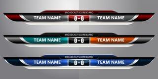 Anzeigetafel-Sendungs-Fußball stock abbildung