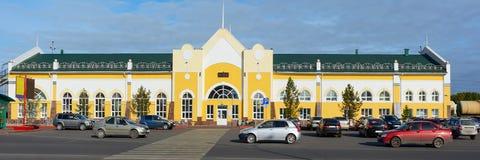 Anzhero-Sudzhensk, σιδηροδρομικός σταθμός Στοκ Φωτογραφίες