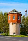 Anzhero-Sudzhensk, the old water tower Royalty Free Stock Images