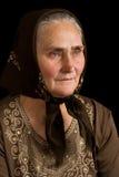 Anziana nella tristezza Fotografie Stock