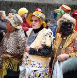 Anziani al carnevale Fotografia Stock Libera da Diritti