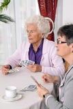 Anziani attivi nel tempo libero Fotografia Stock