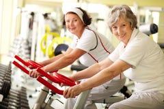 Anziani in buona salute Fotografia Stock Libera da Diritti