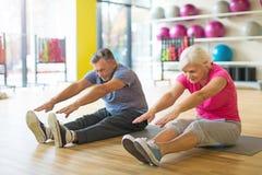 Anziani che fanno le esercitazioni di forma fisica Immagine Stock Libera da Diritti
