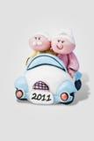 Anziani che guidano 2011 Fotografie Stock