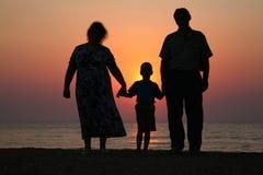 Anziani con il nipote Fotografie Stock