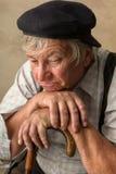 Anziani con la canna Fotografia Stock