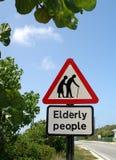 Anziani del segno Fotografie Stock