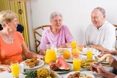 anziani della prima colazione Fotografia Stock