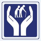 Anziani di cura Immagini Stock