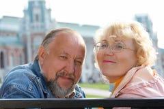 Anziani di felicità fotografie stock libere da diritti
