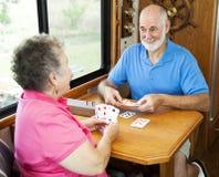 Anziani di rv - gioco di scheda Fotografie Stock Libere da Diritti