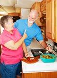 Anziani di rv - nessuno Snacking Immagine Stock