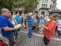 Anziani durante il giro d'oltremare Fotografia Stock