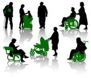 Anziani e persona di disable Immagine Stock