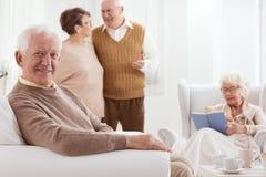 Anziani e tempo attivo immagini stock