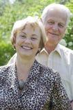 Anziani felici - 42 anni nell'amore Fotografia Stock Libera da Diritti