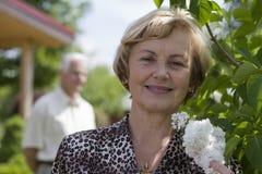 Anziani felici - 42 anni nell'amore Fotografia Stock