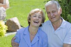 Anziani felici - 42 anni nell'amore Immagine Stock Libera da Diritti