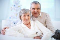Anziani felici fotografia stock