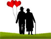 Anziani - il grande amore Fotografia Stock