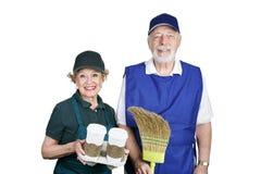 Anziani nella forza di lavoro Fotografia Stock Libera da Diritti