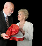 Anziani romantici del biglietto di S. Valentino Immagini Stock